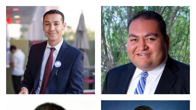 "Members of the Arizona Legislature's newly-formed LGBTQ Caucus (from top left): State Rep. Otoniel ""Tony"" Navarrete; Rep. Daniel Hernandez; Sen. Robert Meza; and Rep. César Chávez."
