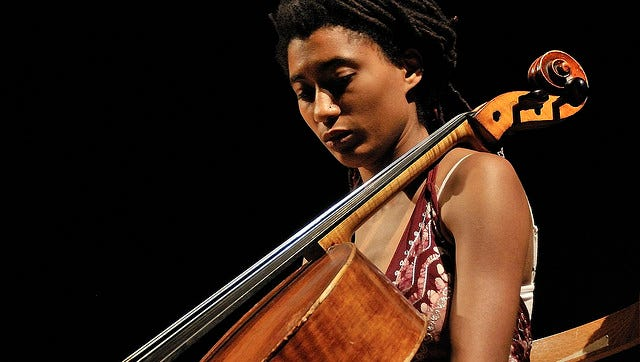 Cellist Tomeka Reid will play at the Spot Tavern as part of a free jazz ensemble with four other musicians who are based in Chicago and Trondheim.