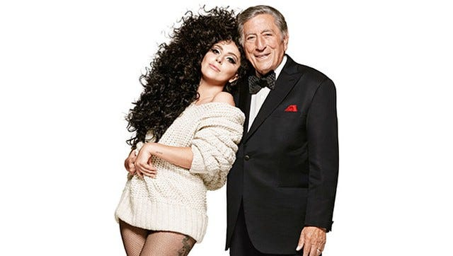 Lady Gaga with Tony Bennett for H&M.