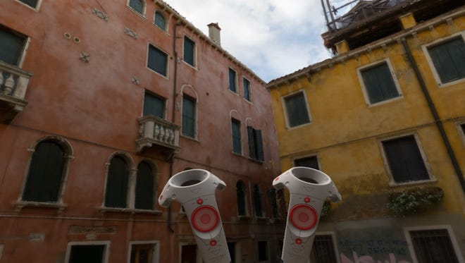 Venice in a virtual reality experience.