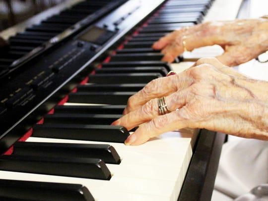 Nelva O'Dell, a resident at The Glen Retirement System,