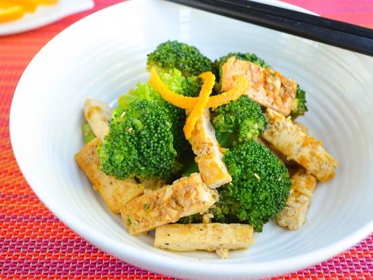 Orange Peel Tofu Broccoli Stir Fry.