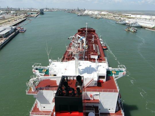 TODD YATES/CALLER-TIMESThe M/V Pennsylvania tanker