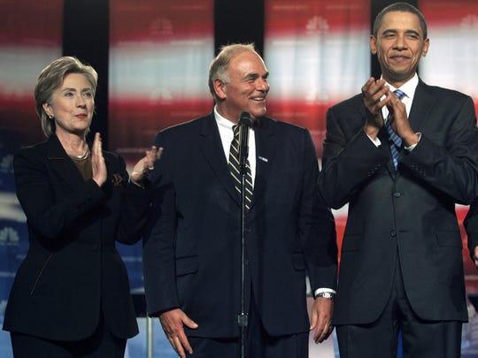 Ed Rendell, Hillary Rodham Clinton, Barack Obama