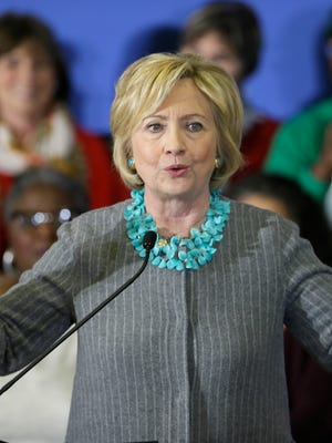 Democratic presidential candidate and former Secretary of State Hillary Clinton