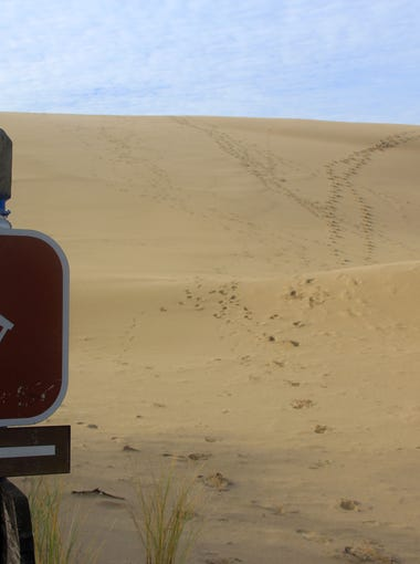 The John Dellenback Trail takes hikers out onto the Umpqua Dunes near Coos Bay.