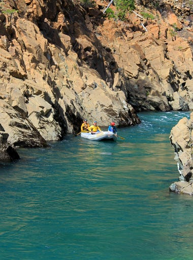 The North Fork of the Smith River is known for its jade-green water and red-rock canyons.