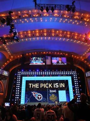 The NFL draft begins Thursday.