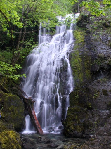 """Jerry Falls is the tallest among the seven """"Family Falls"""" first documented by Salem's Maynard Drawson."""