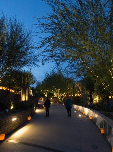 Las Noches de Las Luminarias at the Desert Botanical Garden on Dec. 9, 2016, in Phoenix.