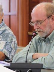 Bank of Guam economist Joseph Bradley appeared before