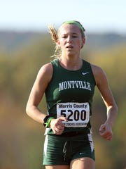Montville's Anna George competes in the 2016 Northwest Jersey Athletic Conference large-school race.