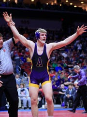 Tanner Sloan of Alburnett wins the state championship