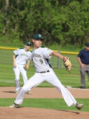 Vestal's Matt Arthur delivers a pitch in Wednesday's