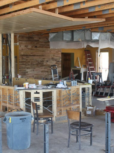 Progress being made on the interior of the new Fuzzy's Taco Shop, located on 4333 Sherwood Way, on July 24, 2018.