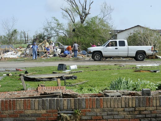 Mobile Home Picked Up By Tornado