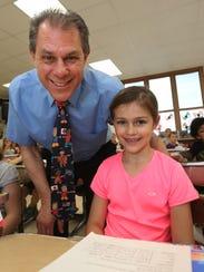 Jackson Elementary principal Steve Kleinfeldt poses