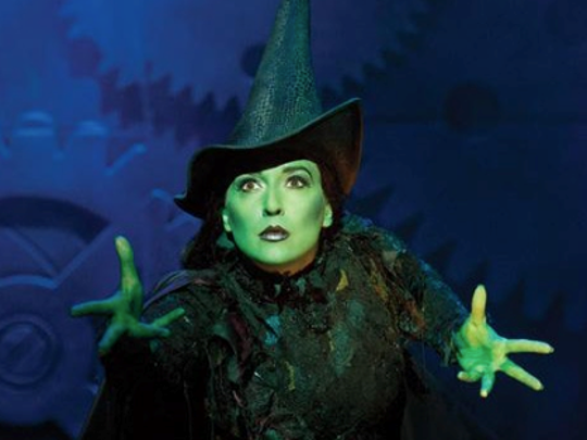 "Jessica Vosk as Elphaba in Broadway's national tour of ""Wicked."""