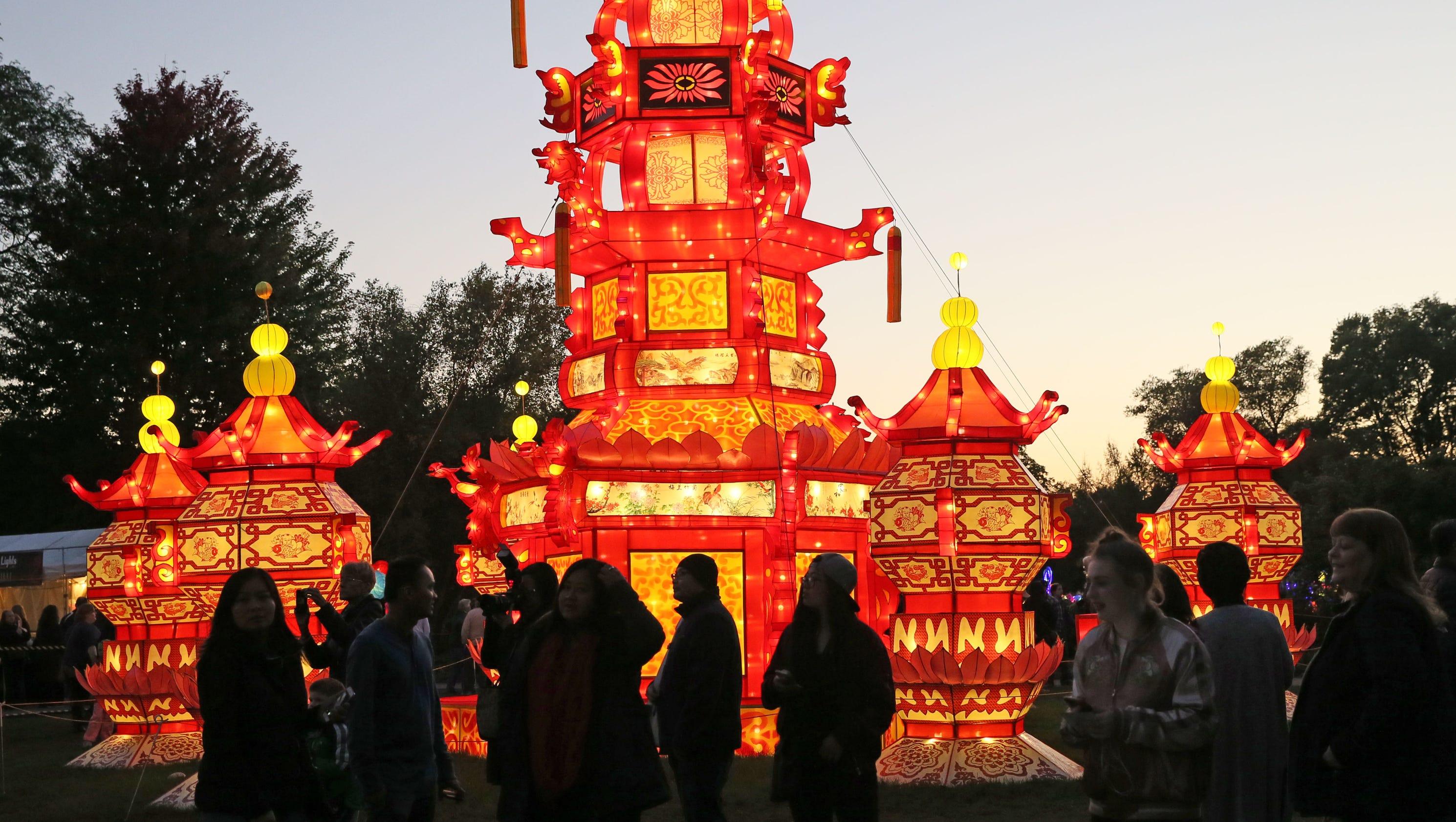 China Lights Display Brightens Boerner Botanical Gardens
