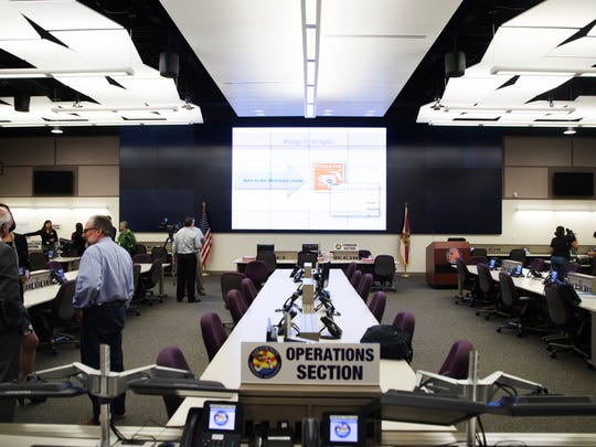 The situation room at the Lee County Emergency Operations Center. The EOC wants to get residents prepared for the hurricane season early.
