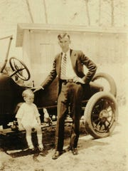 James B. Smith and his son, Jimmie in Stuart about 1926.