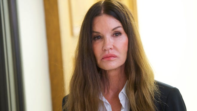 Bill Cosby accuser Janice Dickinson, 63, is testifying against him at his sex-assault retrial on April 12, 2018 in Norristown, Pa.