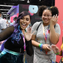 The online influencer  Tiffany Garcia (a.k.a. iHasCupquake) meets with fans at the SweeTarts booth at VidCon.