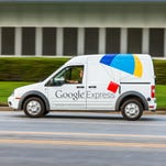 Google Express launched in western Michigan with same-day and overnight delivery service will drop off customersí orders at their doors.