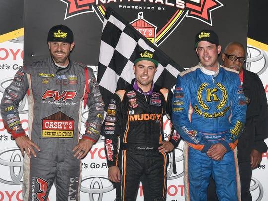 From left, Brian Brown, David Gravel and Mark Dobmeier