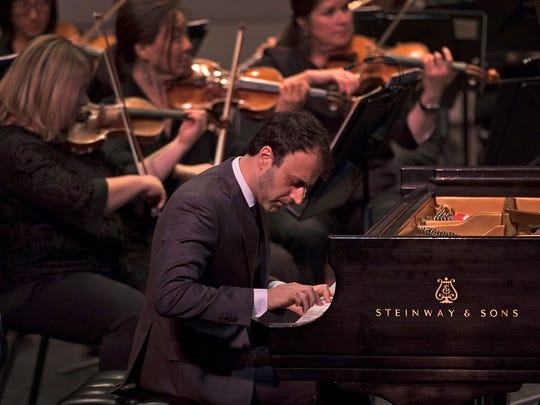 Pianist Ran Dank delivered a brilliant performance of Saint-Saëns' Piano Concerto No. 2.