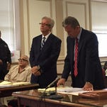 Martin Taccetta in Superior Court, Morristown, on Wed., Sept. 30, for sentencing on a racketeering charge