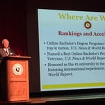 Anthony Catanese give the State of the University address Thursday.