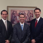 The Church of Jesus Christ of Latter-day Saints has new leadership for the Monroe Ward. From left are, First Counselor Rushton Jones, new Bishop Don Hunsaker and Second Counselor Lyle Hippen.