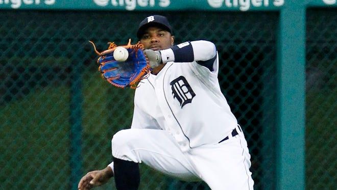 Detroit Tigers leftfielder Rajai Davis.