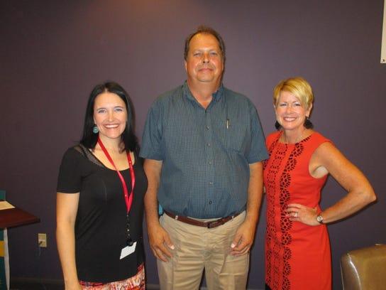 Heather Hebert, Dave Langlais and Judi Terzotis