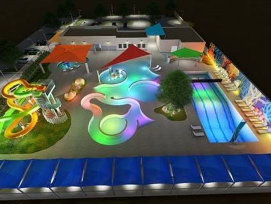 Here is a conceptual design of a future water park