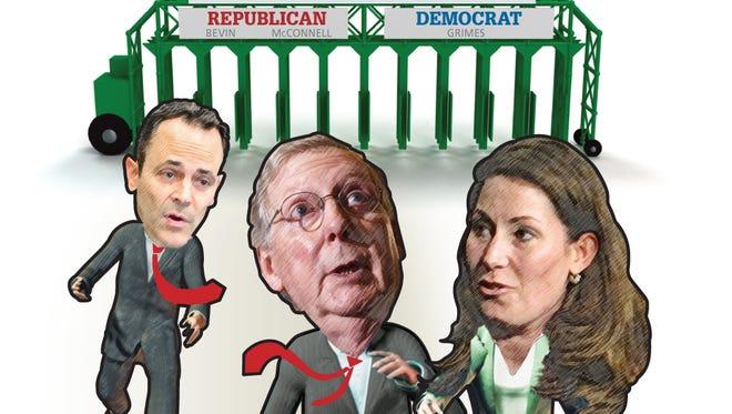 Senate race illustration