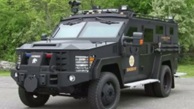 The Bloomington Police Department is moving ahead with plans to purchase the BearCat, a Ford F550 with plated armor that is sold by Lenco.