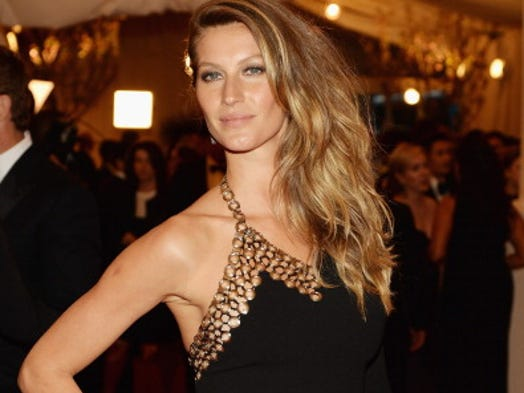 Gisele Bundchen pocketed $47 million in the last 12 months before taxes and fees, making her the world's highest-paid model for the eighth year in a row, according to Forbes.com. Along with lucrative contracts for H&M, Chanel, and Carolina Herrera, Gisele gets a cut of sales from the jelly sandals she designs for Brazilian shoemaker Grendene.