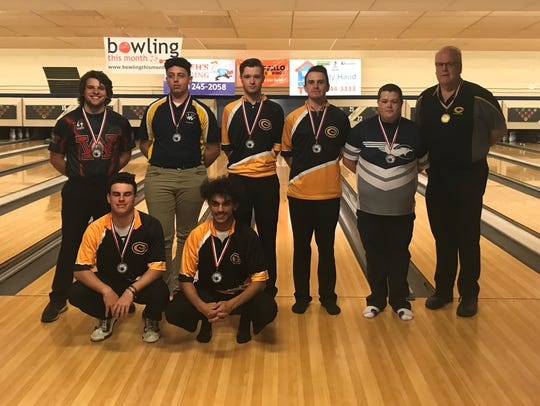 The GWOC East boys bowling team finished first in the
