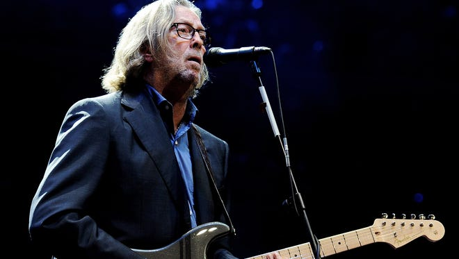Eric Clapton performs at The Prince's Trust Rock Gala in 2010.