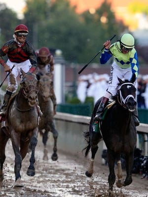 Always Dreaming with jockey John Velazquez wins, Lookin For Lee as second in the 143rd running of the Kentucky Derby.