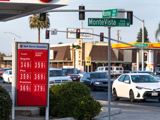 76 and Shell gas stations on Mooney Blvd. in Visalia on Friday, November 2, 2018.