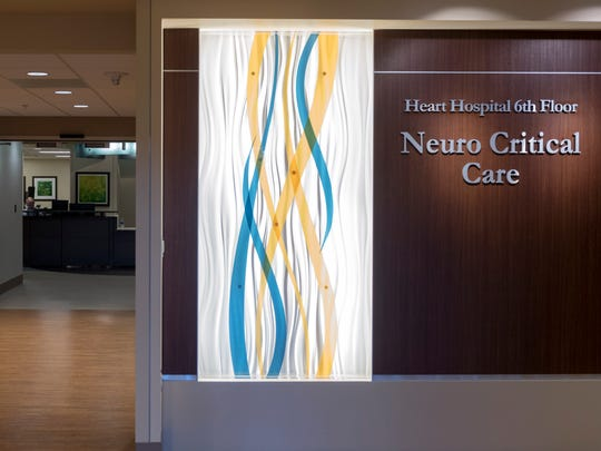 The entrance to the University of Tennessee Medical Center Neurocritical Care Unit on Monday, Feb. 5, 2018.