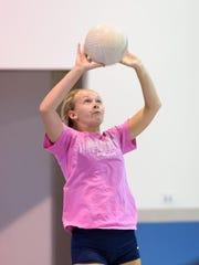 Sydney Fulton. Delaware Military Academy girls volleyball team.
