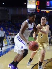 The Lady Tomcats of Haywood High School took on the Lady Bears of Upperman High School, Thursday, March 10, 2016 in the quarter finals of the Class AA Girls' Basketball Tournament. Haywood fell to Upperman, 41-35.