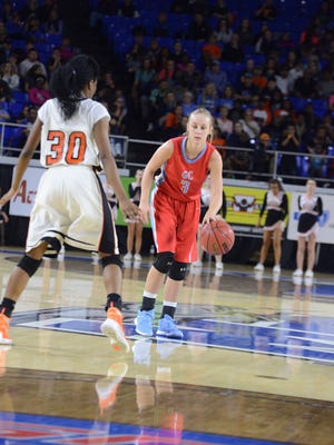 The Lady Tigers of Middleton High School took on the Lady Pioneers of Gibson County High School in the 2016 Class A Girls' Basketball semifinals, March 11, 2016. Gibson County ended Middleton's 67-game win streak with a 53-49 victory.