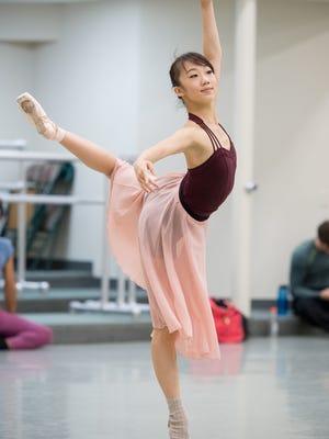 "Chisako Oga will dance the leading role of Swanilda in the evening performances of Cincinnati Ballet's ""Coppélia,"" Oct. 21-23."