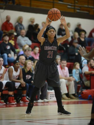 Crockett County's Yasmine Pankey and the Lady Cavaliers are into the girls basketball Dirty Dozen this week.