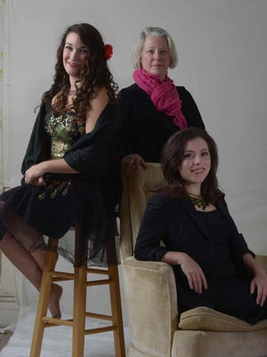 """Liz Leone, Jennifer Kirkland and Diana Black perform in the new cabaret show """"Songs of Ourselves"""" Jan. 21-22 at Ox-Eye Tasting Room in Staunton. A mixture of opera, jazz and storytelling, all proceeds benefit Cat's Cradle in Harrisonburg."""